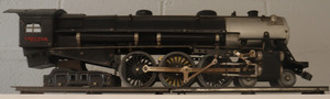 The 1931 Erector Set No. A is a small black train with gold detailing