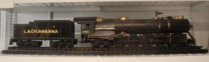 The North Lackawanna Locomotive, created by Clarence Marshall from 1943-1945, is a small gray train with silver and gold detailing